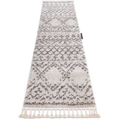 Carpet, Runner BERBER RABAT cream - for the kitchen, corridor & hallway - 70x250 cm