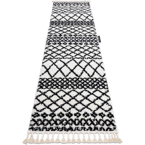 Carpet, Runner BERBER SAFI white - for the kitchen, corridor & hallway White 60x300 cm