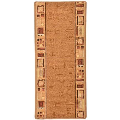 Carpet Runner Gel Backing Beige 67x120 cm