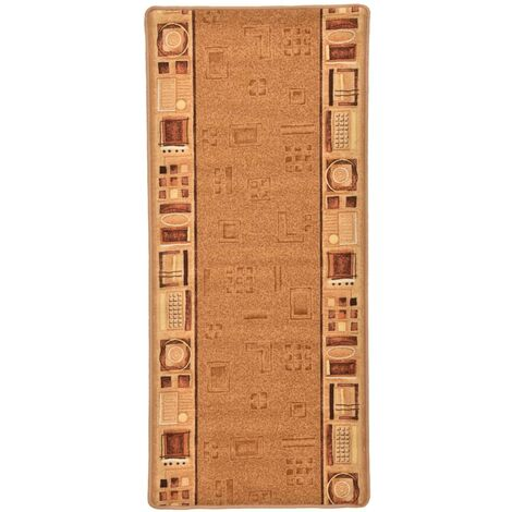 Carpet Runner Gel Backing Beige 67x150 cm