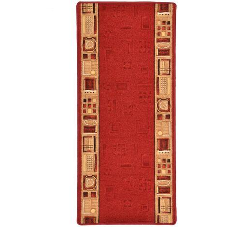 Carpet Runner Gel Backing Red 67x120 cm