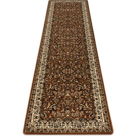Carpet, Runner ROYAL ADR design 1745 brown - for the corridor & hallway Shades of brown 60x300 cm