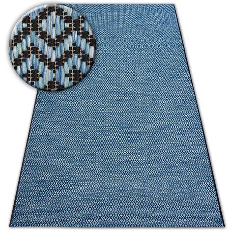 Carpet SISAL LOFT 21144 blue/black/silver - 60x110 cm