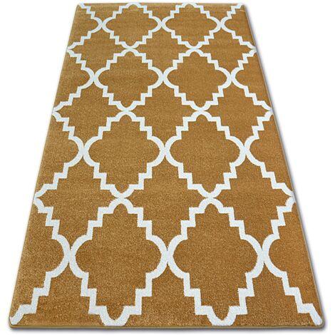 Carpet SKETCH - F343 gold/cream trellis - 200x290 cm