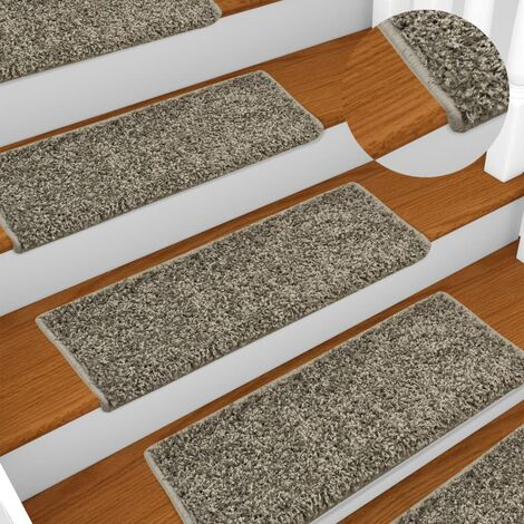 Carpet Stair Treads 15 pcs 65x25 cm Grey