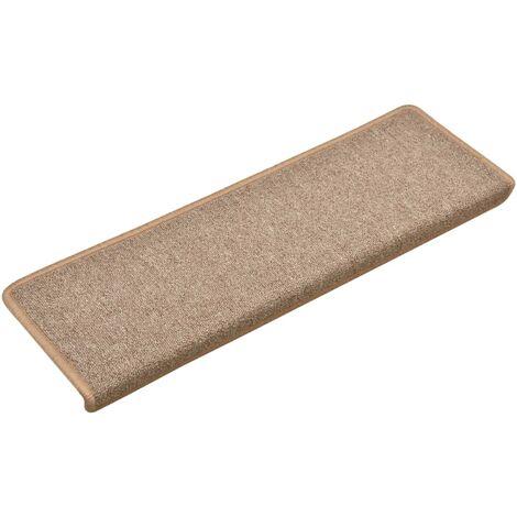 Carpet Stair Treads 15 pcs 65x25 cm Light Brown
