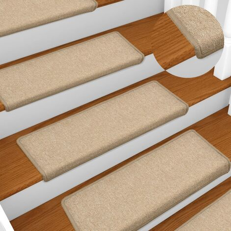 Carpet Stair Treads 15 pcs 65x25 cm Taupe