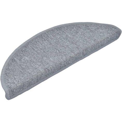 Carpet Stair Treads 15 pcs Light Grey 65x24x4 cm