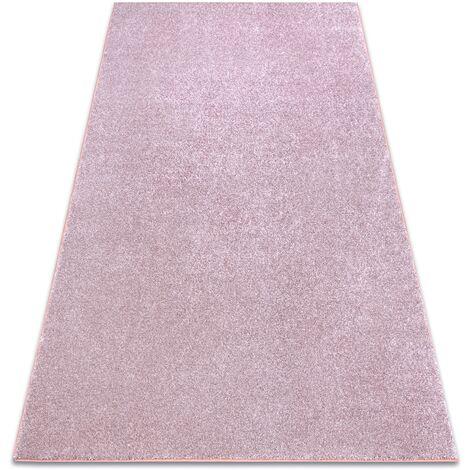 Carpet wall-to-wall SAN MIGUEL blush pink 61 plain, flat, one colour - 200x200 cm