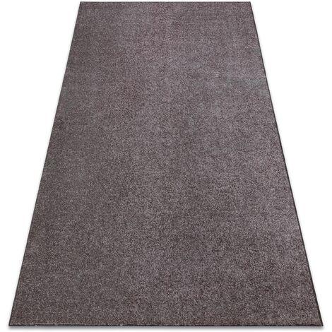 Carpet wall-to-wall SANTA FE brown 42 plain, flat, one colour - 300x350 cm