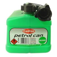 CarPlan TPH005 Tetracan Petrol Can Green 5 Litre with Flexible Pouring Spout