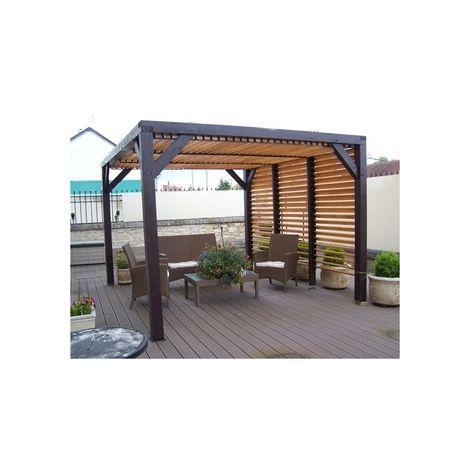 Carport à vantelles coté et toit