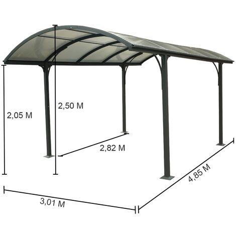 Carport aluminium 14.62 m²