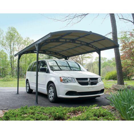 CARPORT ATLAS 5000 gris toiture bronze