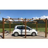 Carport bois  15m² 3x5  1 à 2 places - Autoportant