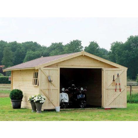Carport Box Auto 3x5.5 Moto Garage Casetta Legno Ricovero Attrezzi Block House