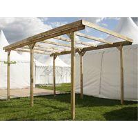 Carport de madera con tejado - IMPERIA- 15m2
