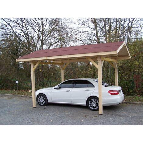 Carport double pente 17.50 m²