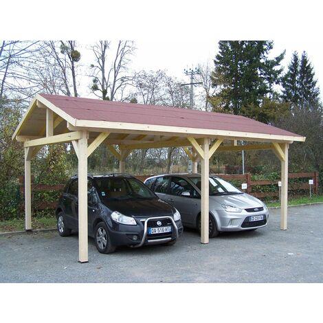 Carport double pente 28.44 m²