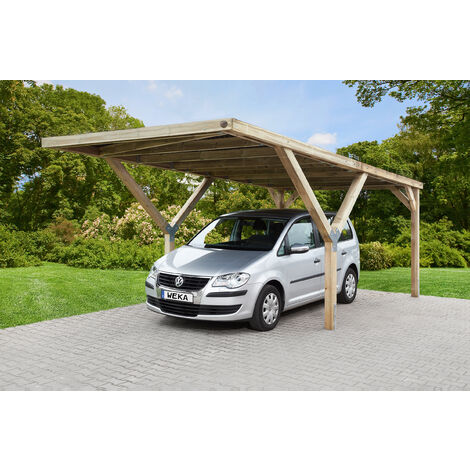 Carport en Y 612 simple, disponible en différents types de couverture de toit.