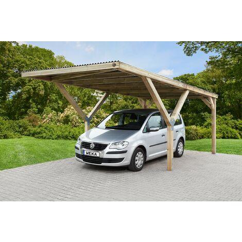 Carport en Y 612 simple, disponible en différents types de couverture de toit.