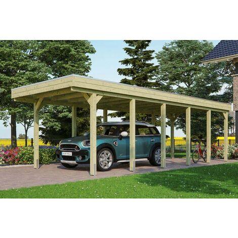 Carport Friesland 314 x 860 cm + Aluminiumdachplatten