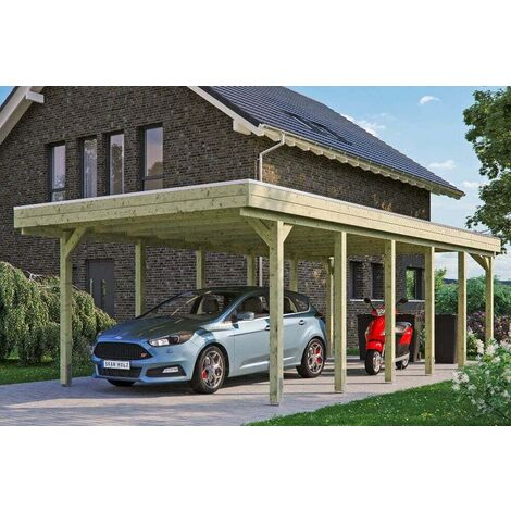 Carport Friesland 397 x 860 cm + Aluminiumdachplatten