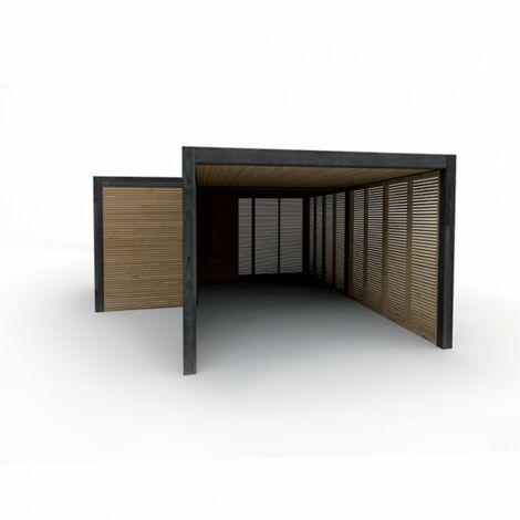 Carport Indépendant - Garantie 15 ans - 337,6 cm / 508,6 cm x 661,4 cm - 22 m²