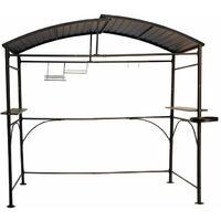 Carport pour barbecue à double toit - 2,63 x 1,50 x 2,40 m