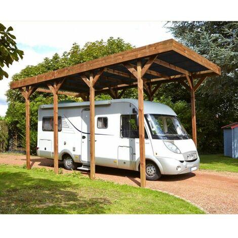 Carport pour camping-car bois traité autoclave