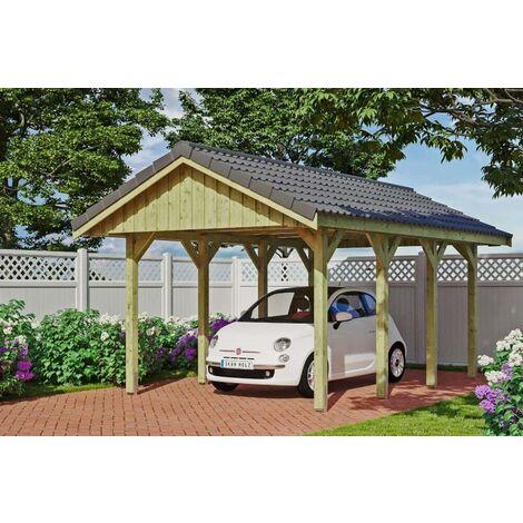 Carport Sauerland 380 x 600 cm mit Dachlattung