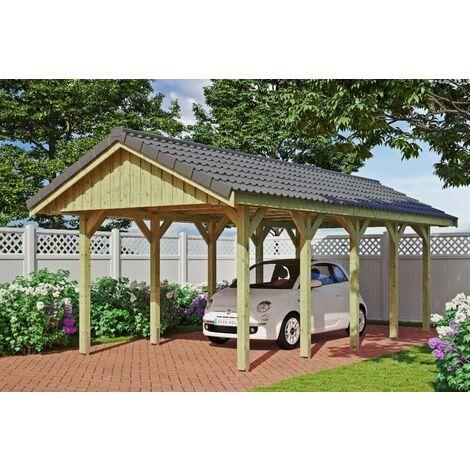 Carport Sauerland 380 x 750 cm mit Dachlattung
