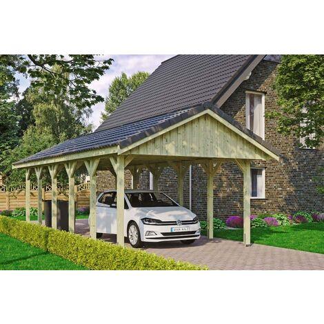 Carport Sauerland 430 x 900 cm mit Dachlattung