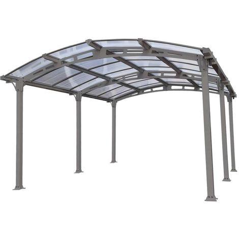 """carport """"siena"""" in alluminio e policarbonato alveolare 362 x 502 cm"""