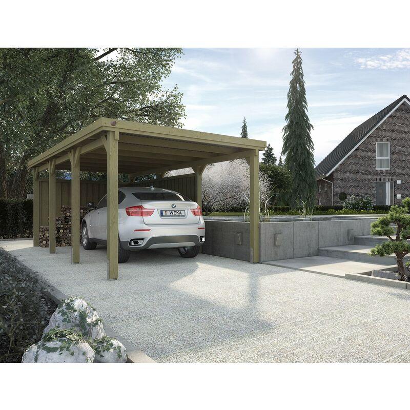 Carport T2 pour voiture avec toit acier. - Weka