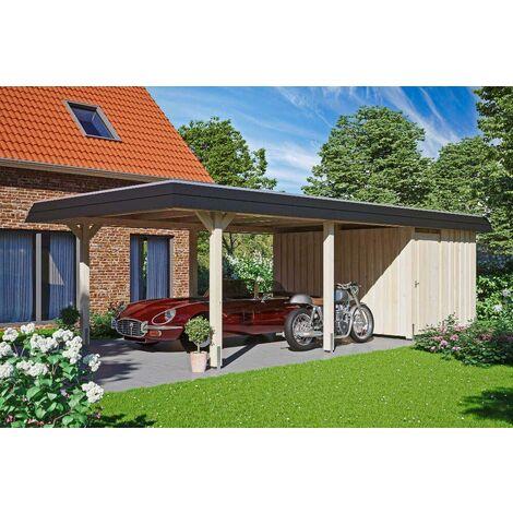 Carport Wendland 409 x 870 cm mit Abstellraum