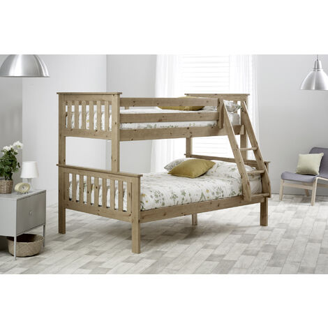 """main image of """"Carra Triple Sleeper Pine With Spring Mattresses"""""""