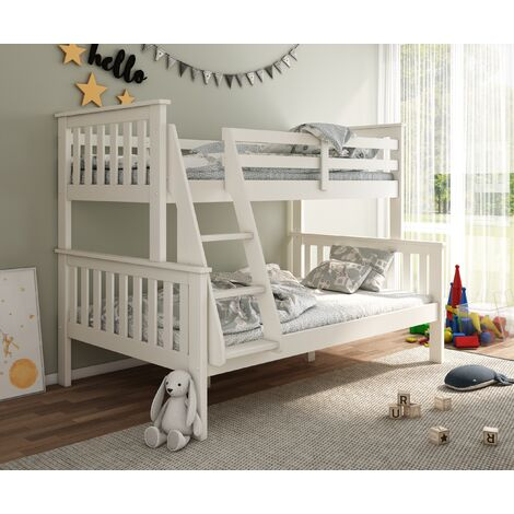 Carra Triple Sleeper White With Spring Mattresses
