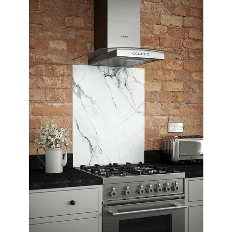 Carrara Marble Glass Kitchen Splashbacks - different dimensions available