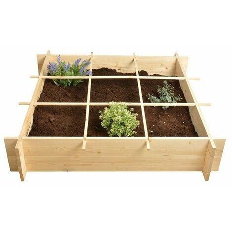 Carré à potager en bois - Cube de plantation - Livraison gratuite