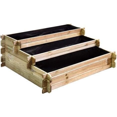 Carré potager en bois à étages - Petit modèle