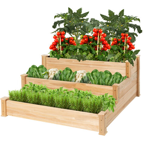 Carré potager en bois de Jardin sur Pied Table de Rempotage 112*114*50cm