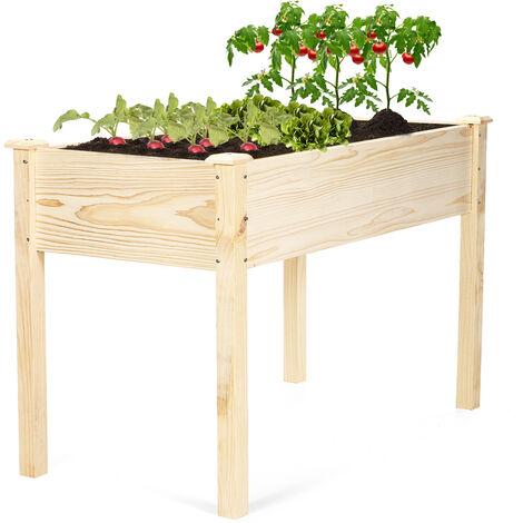 Carré potager en bois de Jardin sur Pied Table de Rempotage 123*62*76cm