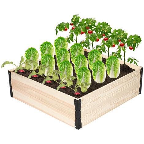 Carré potager en bois de Jardin sur Pied Table de Rempotage 81.5*81.5*25cm