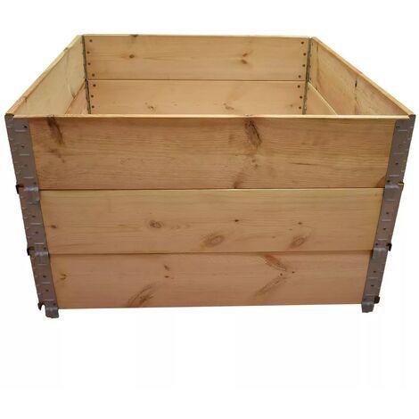 Carré potager en bois naturel 1000x1000mm hauteur 585mm