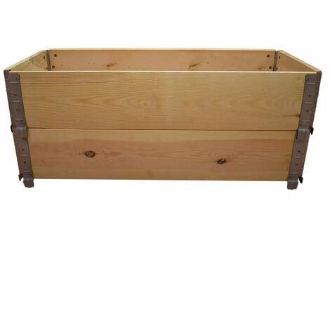 Carré potager en bois naturel 1000x400mm hauteur 390mm