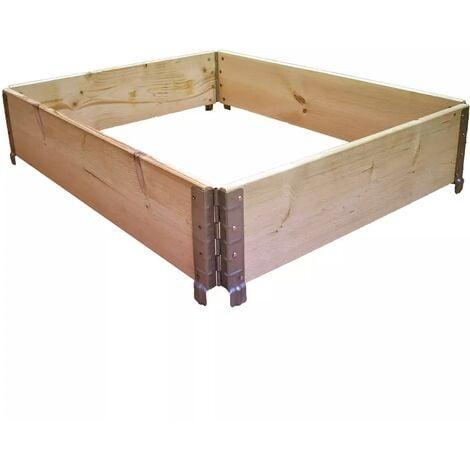 Carré potager en bois naturel 1000x800mm