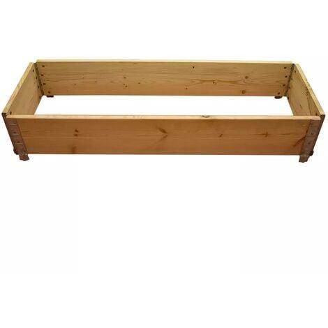 Carré potager en bois naturel 1200 x 400mm