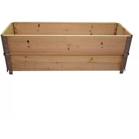 Carré potager en bois naturel 1200 x 400mm hauteur 390mm