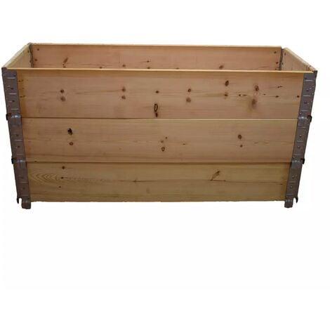 Carré potager en bois naturel 1200 x 400mm hauteur 585mm